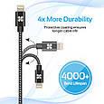 Кабель Promate linkMate-LTF Lightning-USB 1.2 м  Black, фото 5