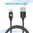 Кабель Promate linkMate-LTF Lightning-USB 1.2 м  Black, фото 7