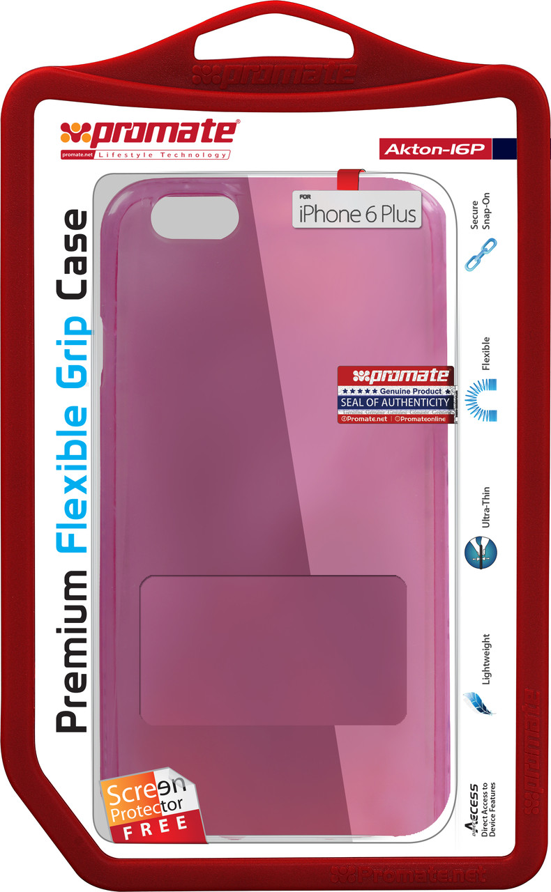 Чехол Promate Akton-i6P для Apple iPhone 6 Plus/6s Plus Pink