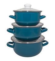 Набір каструль INFINITY Blue, 3 предмета
