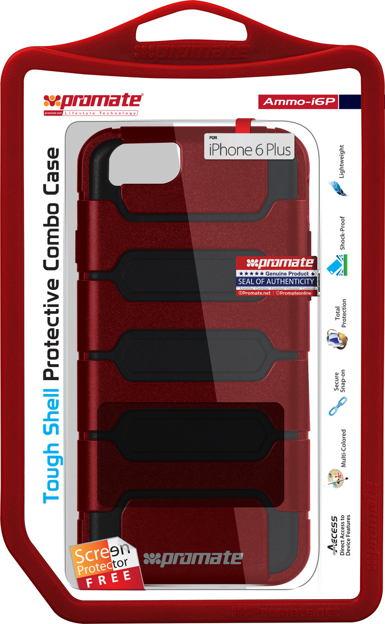 Чехол для iPhone Promate Ammo-I6P Maroon
