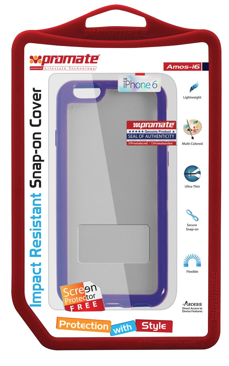 Чехол для iPhone Promate Amos-i6 Purple
