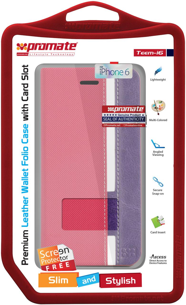 Чехол для iPhone Promate Teem-i6 Pink