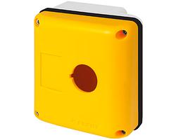 Корпус New Elfin 90x90 с отверстием 1хØ22 мм, термопластик, желтый; ne080E90-GP1