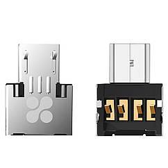 Адаптер Promate Nano-OTG USB - microUSB (Распакован)