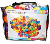Дитячі кульки (м'ячики для басейну) 100шт для сухого басейну интекс Intex: діаметр 8см (Intex 49600)