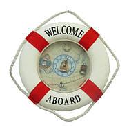 Морская тематика: часы-спасательный круг, ( мт-14) (0,20*0,20*0,06)