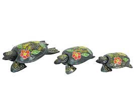 Набор черепах с пепельницами внутри, 5 цветов (чн-05, чн-06, чн-07)