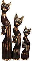 Набор кот коричневый с котенком в месте (к-1004, к-1005,к-1006)