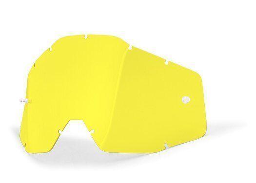 Мотоочки линза 100% RACECRAFT 2/ACCURI 2/STRATA 2 Replacement Lens Yellow  Anti-Fog