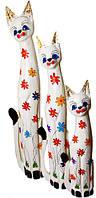 Набор котов белый с цветами ( к-1013,к-1014,к-1015)