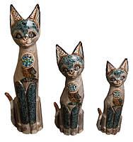 Набор котов бежевый с птичкой на груди ( к-959, к-960, к-961)