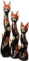 Набор котов коричневый с двумя красными ящерицами ( к-914,к-915,к-916)