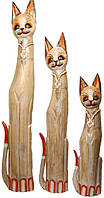 Набор котов с ожерельем из ракушек ( к-1007,к-1008,к-1009)