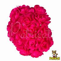 Камелия цветок малиновый на стебельке 1.5 см диаметр 10 шт/уп