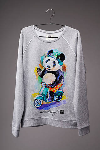 Мужской светшот (свитшот) с принтом Панда