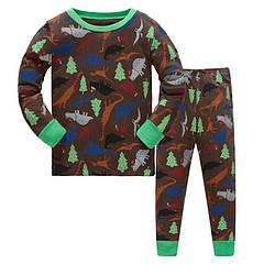 Пижама для мальчика Динозавры в лесу Baobaby (90)