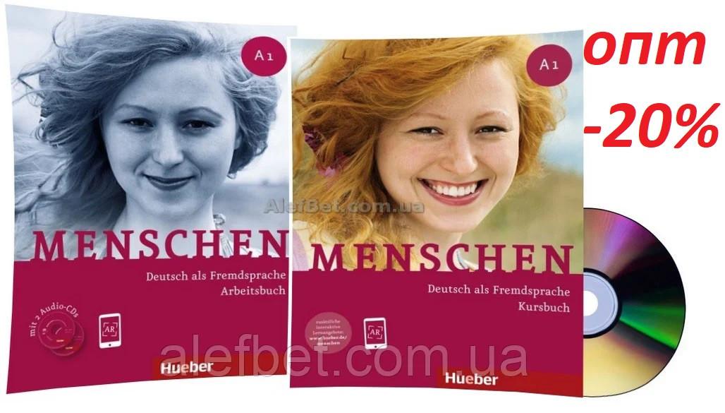 Немецкий язык / Menschen / Kursbuch+Arbeitsbuch. Учебник+Тетрадь (комплект с дисками), A1 / Hueber