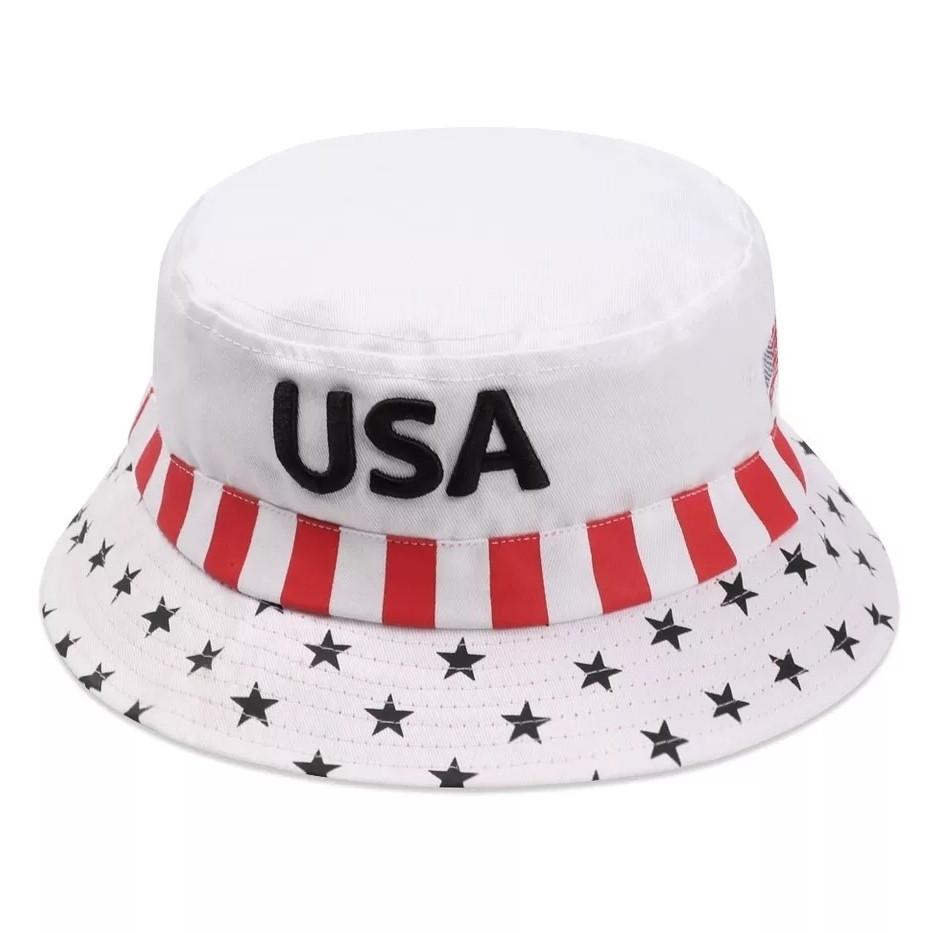 Панама Флаг USA (Америка) Белая 2, Унисекс