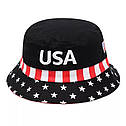 Панама Флаг USA (Америка) Белая 2, Унисекс, фото 3