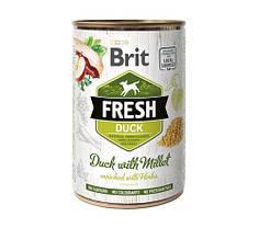 Консервы для собак Brit Fresh Duck/Millet с уткой и пшеном 400 г