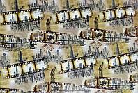 """Подарочная бумага для упаковки подарков """" Кинолента, статуя свободы """" , размер 707х1000 мм"""