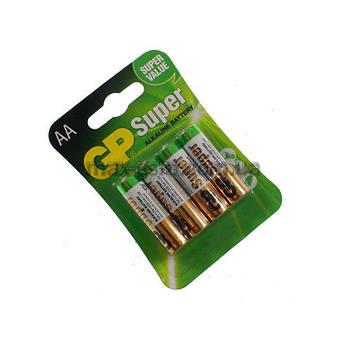 Батарейка АА GP 15A-U4 Super Alkaline, LR6, 1x4шт. (цена за 1 шт)