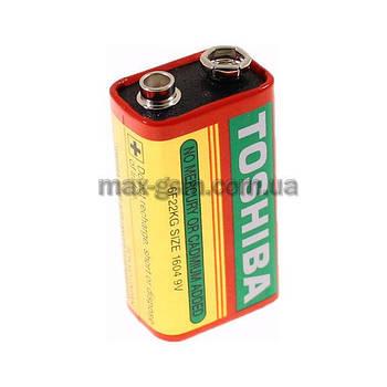 Батарейка Toshiba 6F22, трей, 1шт. (крона)
