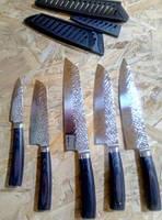 Ножи Myvit нержавеющая сталь 7CR17 440C, имитация ковки