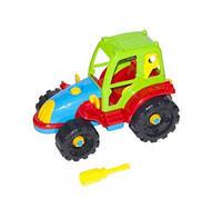 Детская машинка трактор конструктор с пластиковой отверткой, игрушка для мальчиков, детские игрушки