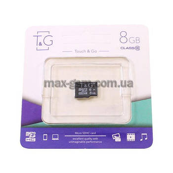 Карта памяти MicroSDHC 8Gb T&G Class 10 (card only)