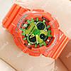 Яркие наручные спортивные часы Casio GA-120 Оrange/Light green 641