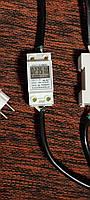 Счетчик электрический электронный компактный б/у + вынесенна вилка + шнур для ПК. Идеально для майнинг ферм., фото 1