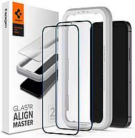 Захисне скло Spigen для iPhone 12 Pro Max Glas.tR AlignMaster (2 шт), Black (AGL01792)
