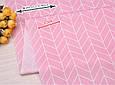 Сатин (хлопковая ткань) геометрия средняя розовая (40*160), фото 2