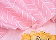 Сатин (хлопковая ткань) геометрия средняя розовая (40*160), фото 3