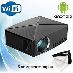 Проектор мультимедийный с Wi-Fi Android кинопроектор Wi-light Vivibright C80UP Android + экран