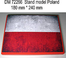 Подставка под модели (тема - Польша).  1/72 DANMODELS DM72266