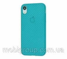 Чехол Carbon Silicone Case для iPhone XR, Изумрудный