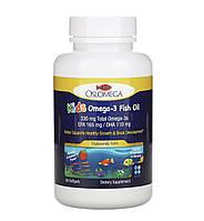 Oslomega Норвежская серия, рыбий жир с омега-3 для детей, натуральный клубничный вкус, 60 капсул