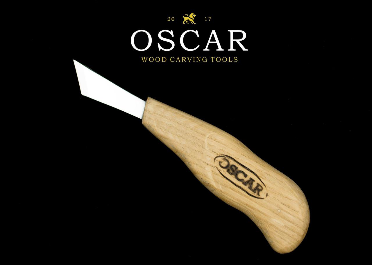 Нож косяк 45° 20мм для резьбы по дереву OSCAR