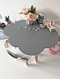 Детский стол облако с пеналом и 1 стул бабочка, фото 2