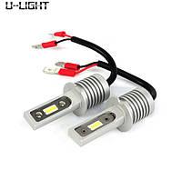 U-LIGHT авто лампы H3, 5000К, 30Вт, с обманками, LED лампы в фары