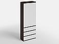 Шкаф для одежды с 3 ящиками Дуб Венге Магия/Белый, фото 2