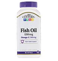 21st Century Рыбий жир 1200 mg, 90 капсул, фото 1