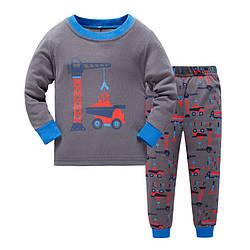 Пижама для мальчика Башенный кран Baobaby (90)