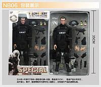 Іграшкова фігурка солдата спецназу SWAT, рухливі суглоби