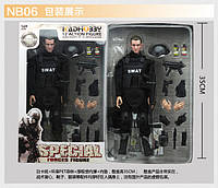 Игрушечная фигурка солдата спецназа SWAT, подвижные суставы