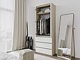 Шкаф для одежды с 3 ящиками Дуб Сонома/Белый, фото 3