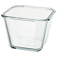 Контейнер для продуктов IKEA, емкость для хранения горячей еды с крышкой, стекло, 1.2 л